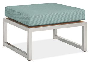 Montego Ottoman Cushion in Sunbrella Canvas Spa